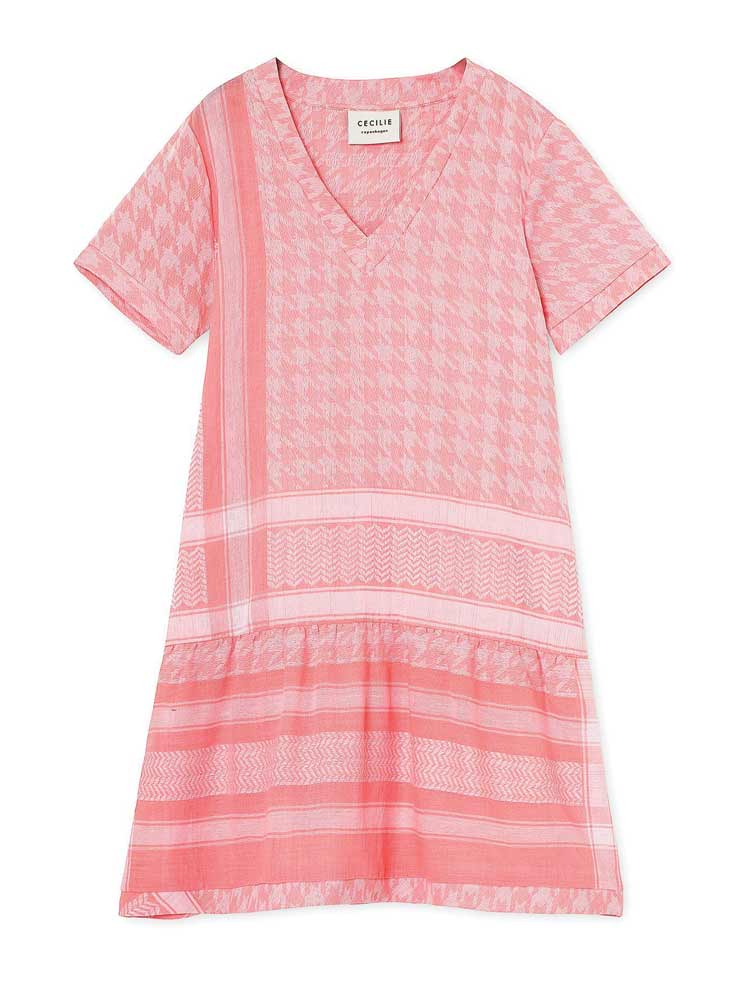 Dress 2 V Short Sleeve Pink