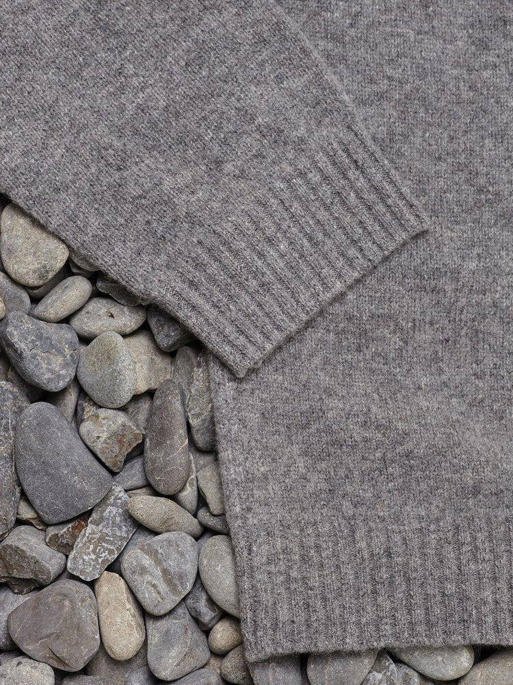 Merino Sea Crew Grey Marle