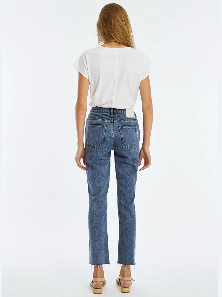 The Mid Rise Straight Leg Jean