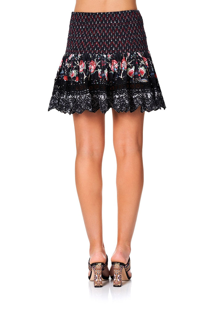 Short Shirred Skirt