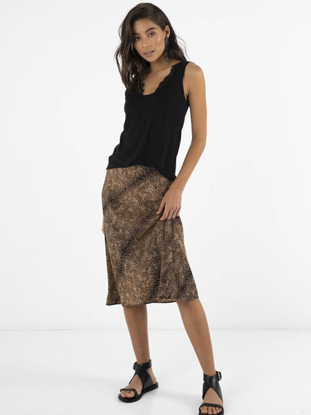 Coco Safari Bias Skirt