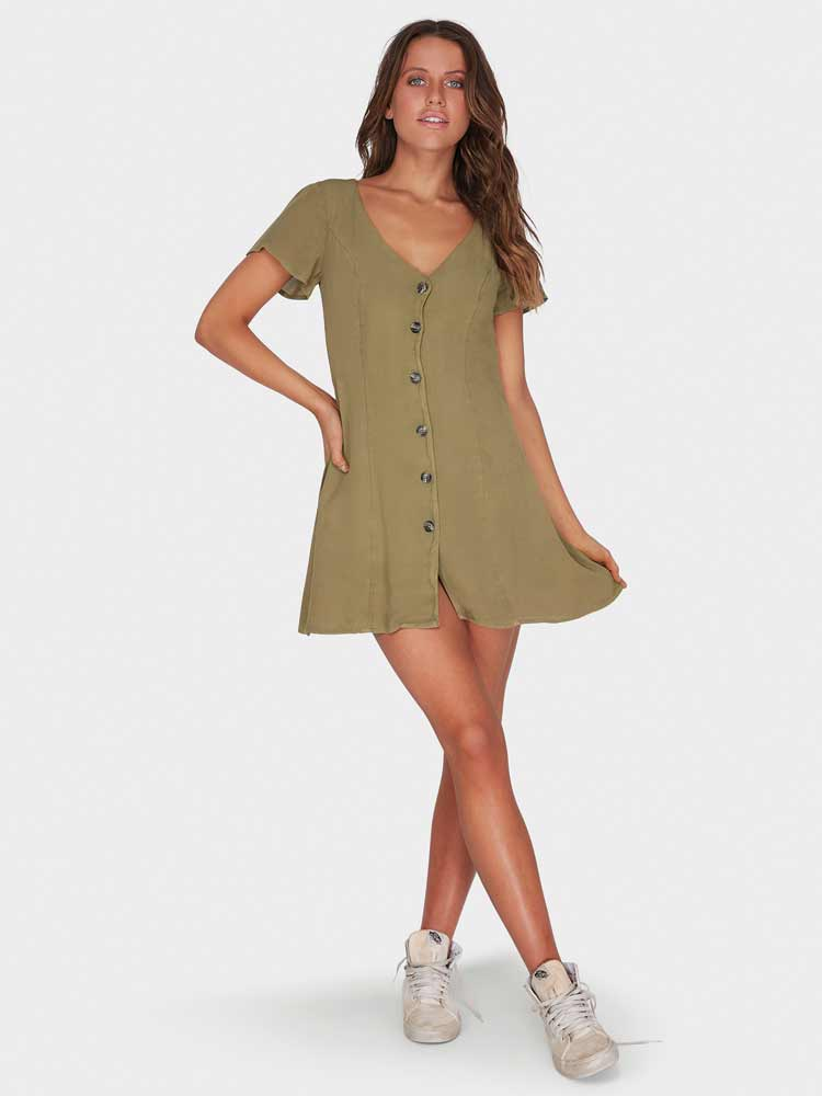 Sunlight Dreamin Dress Sage