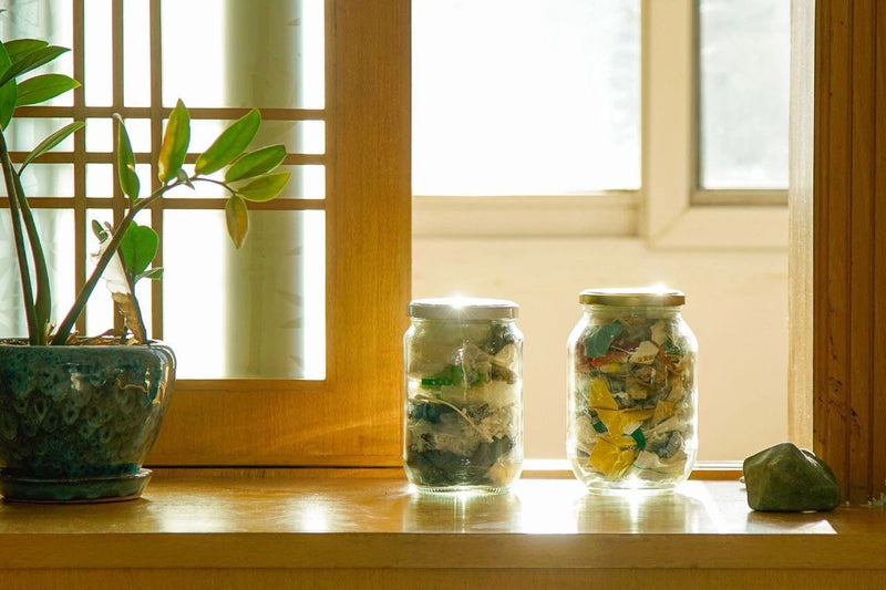 Zero Waste, lagom planet, jars of trash, jars of waste for 2 people, carrie yu, zero waste couple