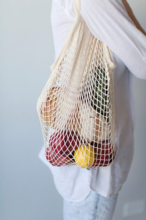 Organic Cotton String Bag - White