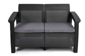 Keter Corfu Outdoor Twin Seater Lounge
