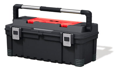 "Keter 26"" Hawk Tool box with Lid Organizer"