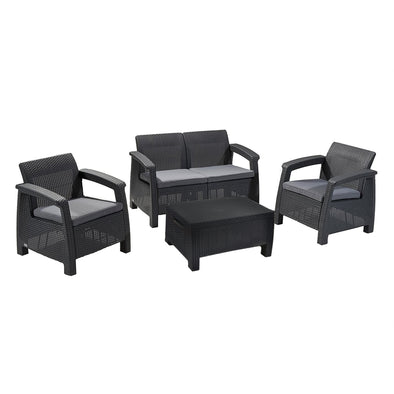 Keter Corfu Outdoor Four Seater Lounge Set