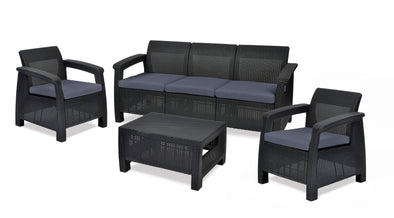 Corfu Five Seater Lounge Set