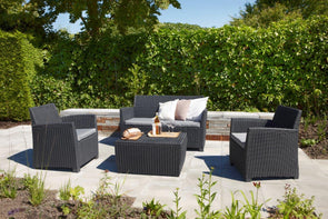 Keter Corona Outdoor Lounge Set - Graphite