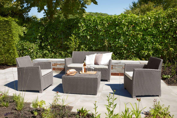 Keter Corona Outdoor Lounge Set - Cappuccino