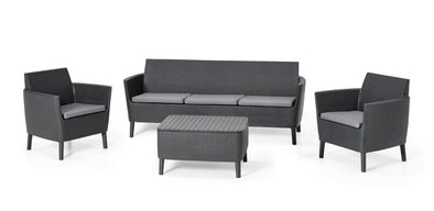 Keter Salemo 5 Seater Lounge Set With Storage Table