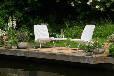 Keter Rio Patio Furniture Set - White