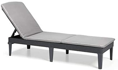 Keter Jaipur Outdoor Sun Lounger with Cushion