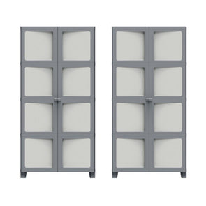 2 x Keter Modulize XL Tall Cabinet