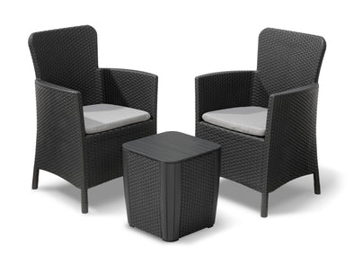 Keter Miami Outdoor Furniture Balcony Set