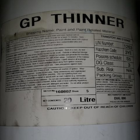 Power Plus GP Thinners