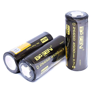 BASEN IMR 26650 60A 4500mAh High Drain Flat Top Rechargeable Battery