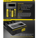 NITECORE New i4 Intellicharger Universal 4-Bay Smart Rechargeable Battery Charger