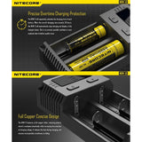 NITECORE New i2 Intellicharger Universal 2-Bay Smart Rechargeable Battery Charger