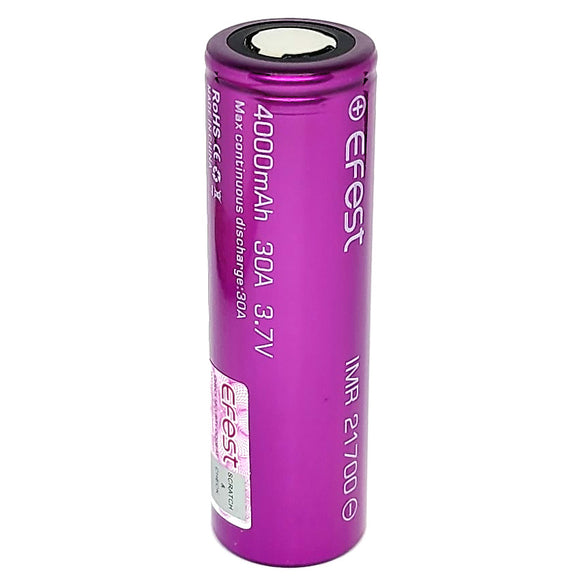 Efest IMR 21700 30A 4000mAh High Drain Flat Top Rechargeable Battery