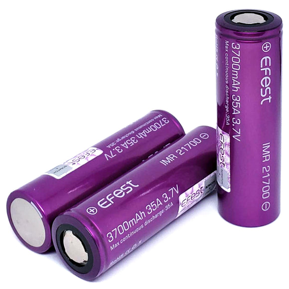 Efest IMR 21700 35A 3700mAh High Drain Flat Top Rechargeable Battery
