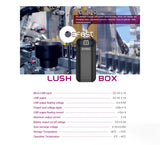 Efest Lush Box Intelligent LED Rechargeable 18650 Battery Charger & Power Bank Spec Sheet