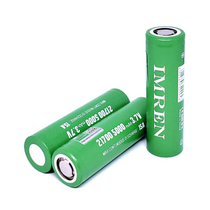 IMREN IMR 21700 15A 5000mAh High Drain Flat Top Rechargeable Battery