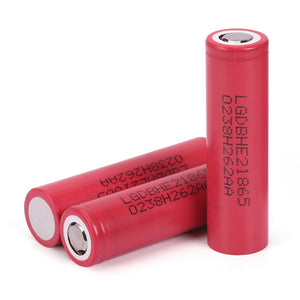 LG Chem ICR 18650 HE2 20A 2500mAh High Drain Flat Top Rechargeable Battery