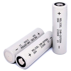 Molicel INR20700A 20700 35A 3000mAh High Drain Flat Top Rechargeable Battery