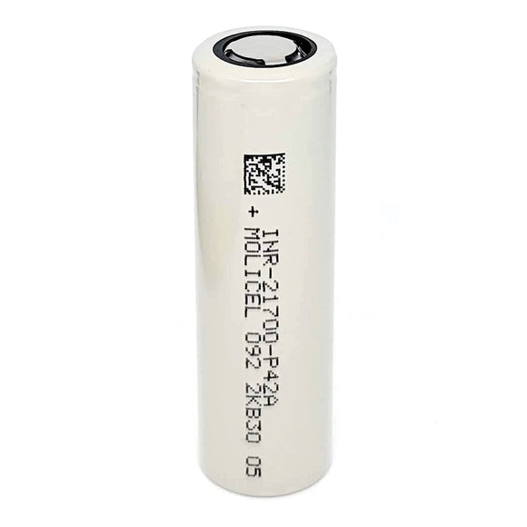 Molicel INR 21700 P42A 45A 4200mAh High Drain Flat Top Rechargeable Battery
