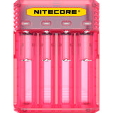 NITECORE Q4 Intellicharger Universal 4-Bay Smart Rechargeable Battery 2A Quick Charger Pinky Peach Color