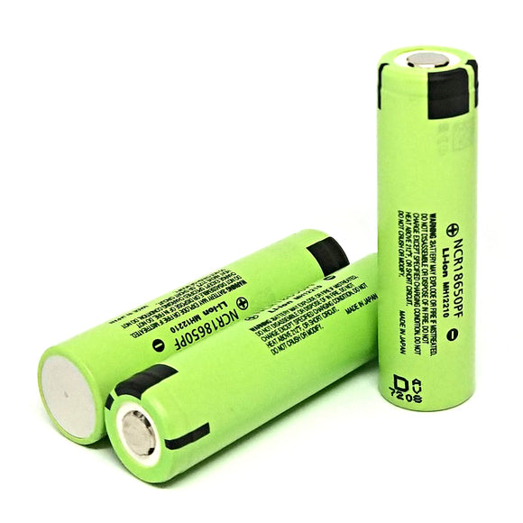 Panasonic NCR18650PF 18650 10A 2900mAh High Drain Flat Top Rechargeable Battery