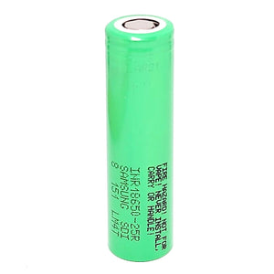 Samsung INR 18650 25R 20A 2500mAh High Drain Flat Top Rechargeable Battery