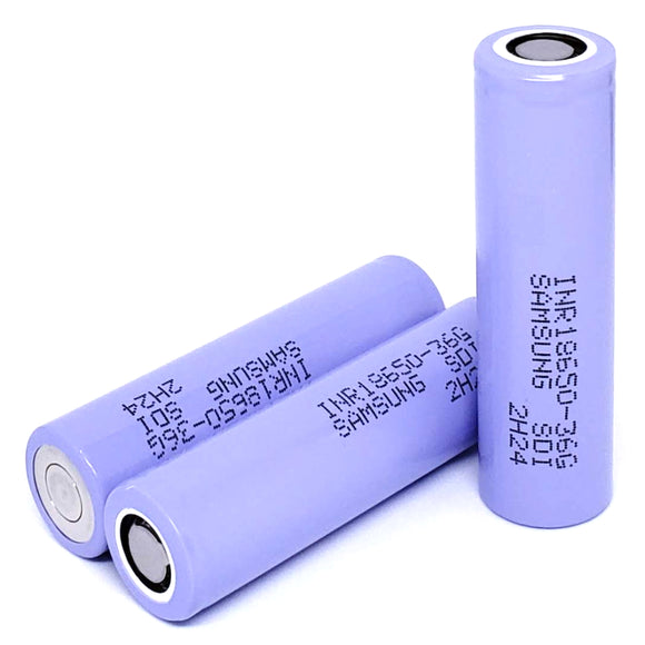 Samsung INR 18650 36G 10A 3600mAh High Drain Flat Top Rechargeable Battery