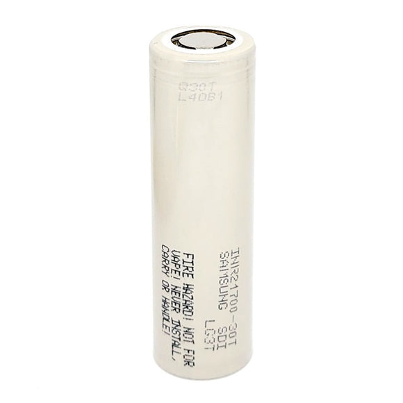 Samsung INR 21700 30T 35A 3000mAh High Drain Flat Top Rechargeable Battery