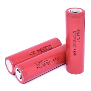 Sanyo NCR20700A 20700 30A 3300mAh High Drain Flat Top Rechargeable Battery
