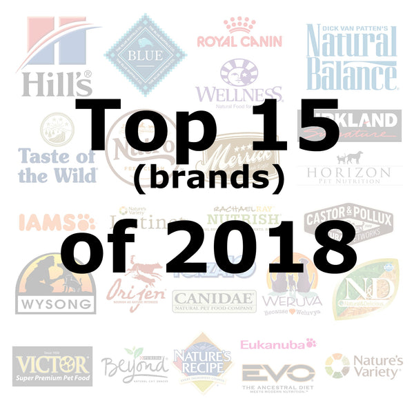 Top 15 (brands) of 2018 - Pet Picked dog food samples
