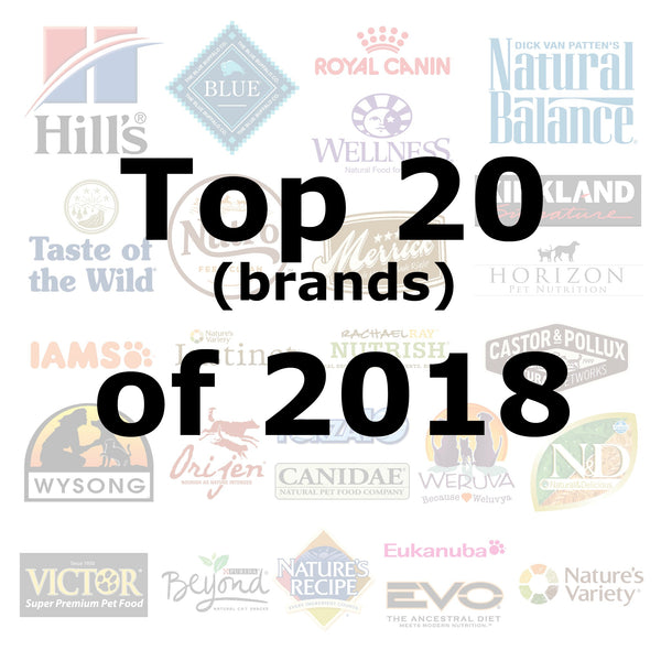Top 20 (brands) of 2018 - Pet Picked dog food samples