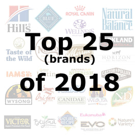 Top 25 (brands) of 2018 - Pet Picked dog food samples