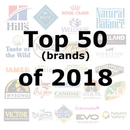 Top 50 (brands) of 2018 - Pet Picked dog food samples