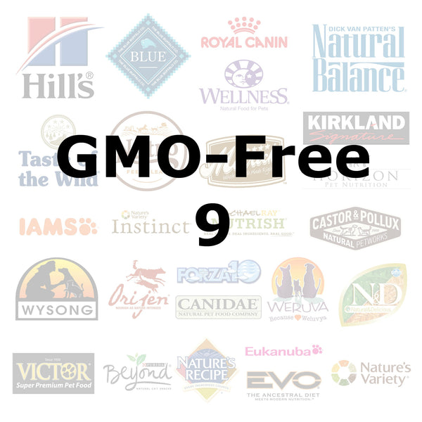 GMO-Free 9 - Pet Picked dog food samples
