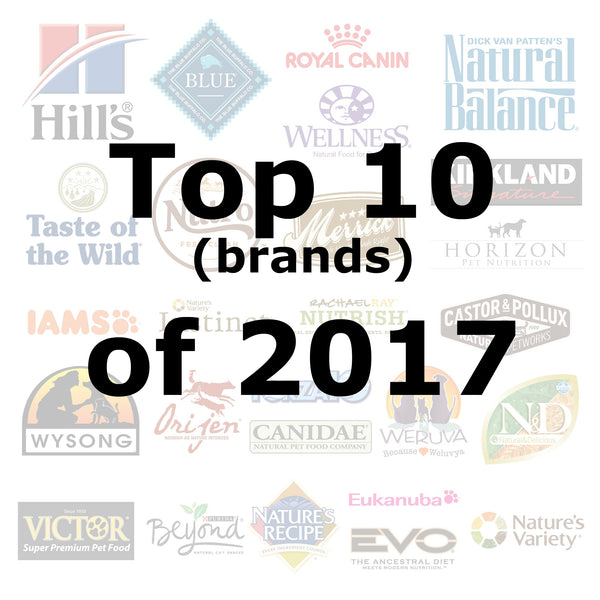 Top 10 (brands) of 2018 - Pet Picked dog food samples