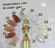 The new nude collection, bb ombre gel polish (neutrals and french ombre colors)