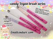 Candy Vegan Acrylic and Gel Brush Series !~ ( cruelty free nail art, gel and acrylic brushes )