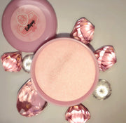 lollipop pink, glow in the dark rose gold cover pink powder