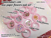 Paper Flowers Nail Art (Nail Art Decoration)