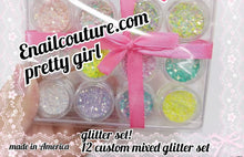 Load image into Gallery viewer, Pretty girl glitter set! magic pastel hologram glitter set
