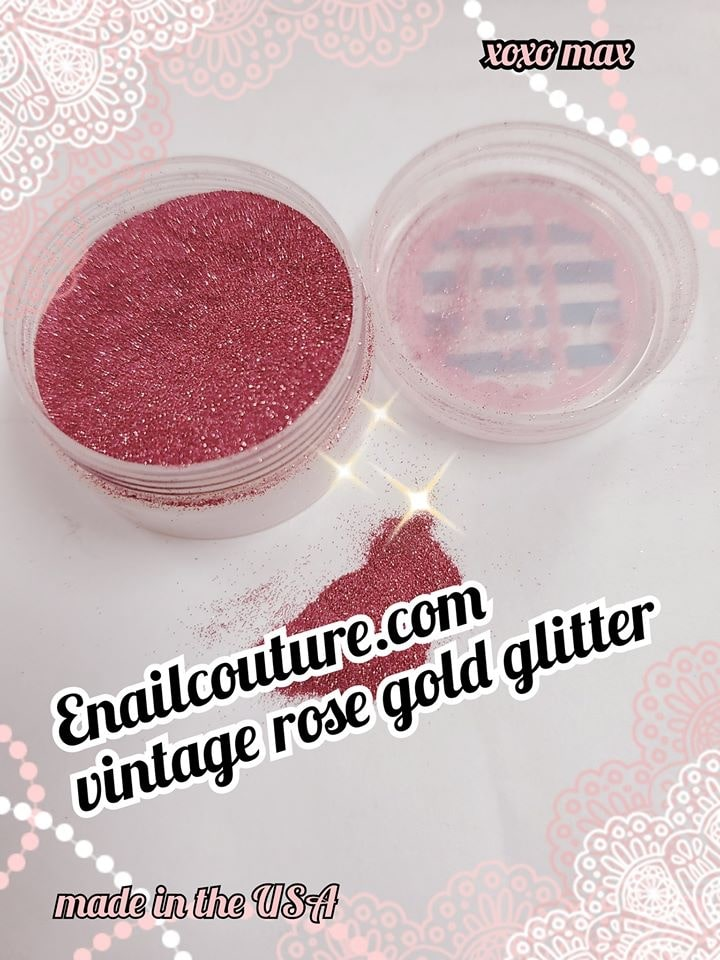 Vintage rose gold  , pure glitter mix!