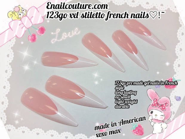 123 Go !~ Soft Gel Full Coverage Pre Made Gel Nails