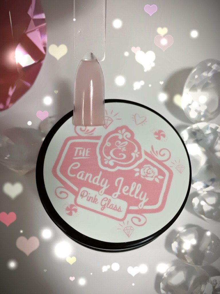 Candy Jelly LED/UV Builder Gel, Pink Glass~!
